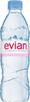 Neperlivá voda Evian - PET, 0,5 l, 24 ks