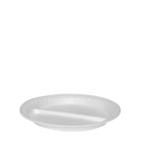 Termo talíř 22,5 cm - EPS, dělený na 2 porce, bílý, 100 ks
