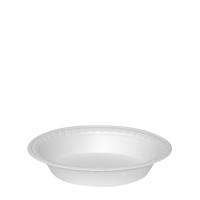 Termo talíř 600 ml - průměr 22,5 cm, EPS, hluboký, bílý, 100 ks - DOPRODEJ