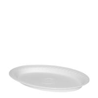 Oválný termo talíř 29,5x21 cm - EPS, bílý, 100 ks - DOPRODEJ