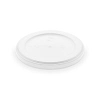 Kulaté víčko pro termo misku na polévku 340-680 ml - EPS, bílé, 50 ks