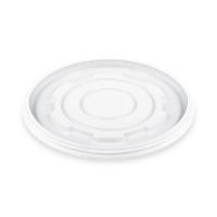 Kulaté plastové víčko pro termo misku na polévku 340-680 ml - PS, transparentní, 50 ks