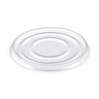 Kulaté plastové víčko pro termo misku na polévku 340-680 ml - PP, transparentní, 50 ks