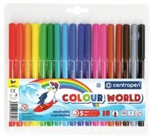 Barevný popisovač Centropen Colour World 7550/18 - 1 mm, sada 18 ks