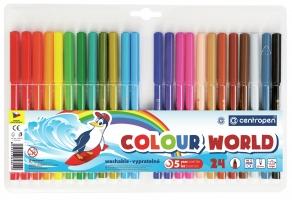 Barevný popisovač Centropen Colour World 7550/24 - 1 mm, sada 24 ks