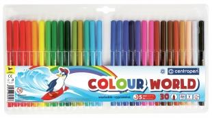 Barevný popisovač Centropen Colour World 7550/30 - 1 mm, sada 30 ks