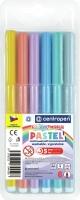 Barevný popisovač Centropen Colour World Pastel 7550/6 - 1 mm, sada 6 ks