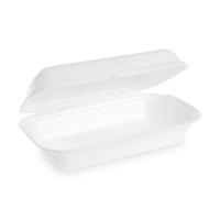 Úzký menu box - EPS, 24x13,3x7,5 cm, bílý, 125 ks