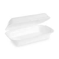 Úzký menu box - XPS, 24x13,3x7,5 cm, bílý, 125 ks
