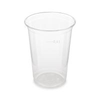 Plastový kelímek 0,4 l - PET, průměr 95 mm, transparentní, 50 ks