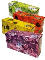 Kosmetické kapesníčky Linteo - v krabičce, dvouvrstvé, 100% celulóza, 150 ks