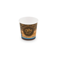 Papírový termo kelímek Coffee To Go 0,11 l - průměr 62 mm, s motivem, 50 ks