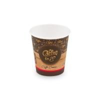 Papírový termo kelímek Coffee To Go 0,2 l - průměr 73 mm, s motivem, 50 ks