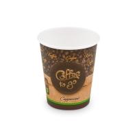 Papírový termo kelímek Coffee To Go 0,28 l - průměr 80 mm, s motivem, 50 ks