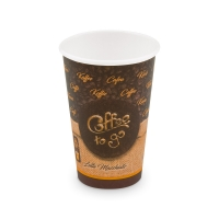 Papírový termo kelímek Coffee To Go 0,33 l - průměr 80 mm, s motivem, 50 ks