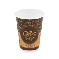 Papírový termo kelímek Coffee To Go 0,42 l - průměr 90 mm, s motivem, 50 ks
