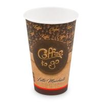Papírový termo kelímek Coffee To Go 0,51 l - průměr 90 mm, s motivem, 50 ks