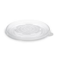 Plastové víčko na papírovou misku na polévku 350-750 ml - PP, transparentní, 50 ks