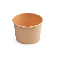 Kulatá miska na polévku 500 ml - PAP/PE, papírová, hnědá, 50 ks