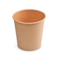 Kulatá miska na polévku 750 ml - PAP/PE, papírová, hnědá, 50 ks
