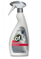 Čisticí prostředek na koupelny Cif Profesional 2v1 - s rozprašovačem, 750 ml - DOPRODEJ