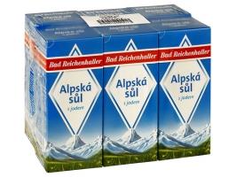 Alpská sůl Bad Reichenhaller - v krabičce, s jódem, 500 g