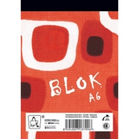 Šitý poznámkový blok A6 Eko - čtverečkovaný, recyklovaný, 50 listů