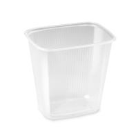 Hranatá miska 500 ml - plastová, PP, transparentní, 100 ks