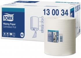 Papírové utěrky Tork 130034 - v roli, středové odvíjení, jednovrstvé,19,5x35 cm, celulóza TAD, bílé, systém M2, 470 útržků, 6 rolí