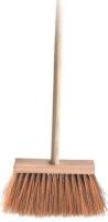 Chodníkové koště s holí - rýžové, dřevěné, 120 cm