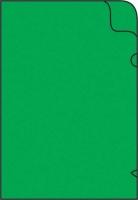 Zakládací obal L - A4, lesklý, 180 my, zelený, 10 ks