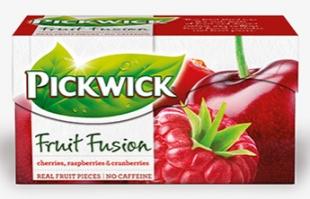 Ovocný čaj Pickwick Fruit Fusion - třešeň a malina, 20 sáčků