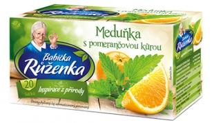 Bylinný čaj Babička Růženka - meduňka s pomerančovou kůrou, 20 sáčků