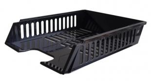 Odkládací zásuvka - plastová, 37x27x7 cm, černá