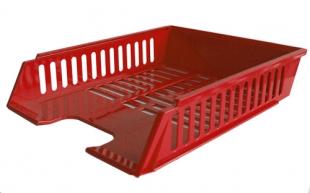 Odkládací zásuvka - plastová, 37x27x7 cm, červená
