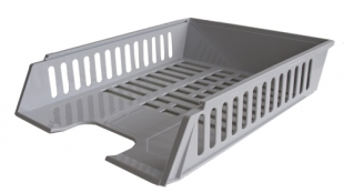 Odkládací zásuvka - plastová, 37x27x7 cm, šedá