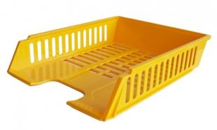 Odkládací zásuvka - plastová, 37x27x7 cm, žlutá