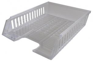 Odkládací zásuvka - plastová, 37x27x7 cm, transparentní, čirá