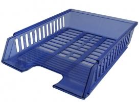 Odkládací zásuvka - plastová, 37x27x7 cm, transparentní, modrá