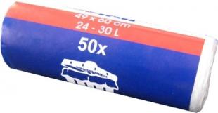 Sáček do koše 30 l - 50x60 cm, transparentní, 50 ks