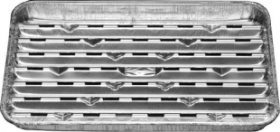 Hliníkový ALU tác na gril - s perforací, 35x23 cm, 5 ks