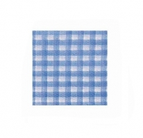 Papírové kostkované ubrousky KARO - 33x33 cm, jednovrstvé, 100% celulóza, modré, 50 ks