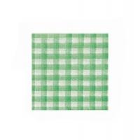 Papírové kostkované ubrousky KARO - 33x33 cm, jednovrstvé, 100% celulóza, zelené, 50 ks