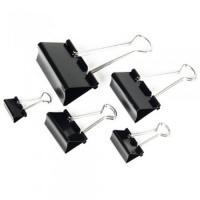 Kancelářský binder klip - 15 mm, černý, 12 ks