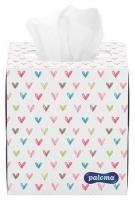 Kosmetické kapesníčky Paloma Dekor - v krabičce, třívrstvé, 100% celulóza, 60 ks