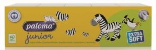 Papírové kapesníčky Paloma Junior - čtyřvrstvé, 100% celulóza, 10 balíčků
