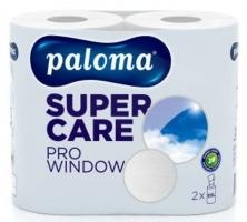 Kuchyňské utěrky Paloma XXL Super Care Pro Window - role, dvouvrstvé, 100% recyklovaný papír, 50,4 m, bílé, 2 role