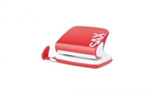 Děrovačka SAX Design 318 - 20 listů, kovová, červená