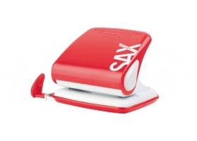 Děrovačka SAX Design 418 - 30 listů, kovová, červená