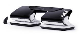 Dvojděrovačka SAX Design 300 - 20 listů, kovová, černá